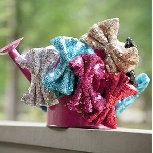 Other - Turquoise blue sequin bow headband.